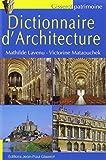 Dictionnaire d'architecture NOUVELLE EDITION