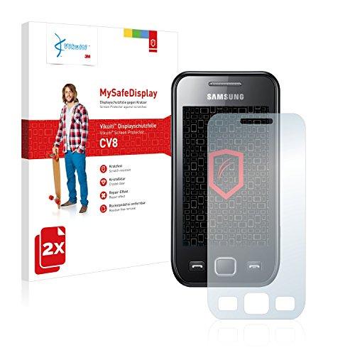 2x Vikuiti MySafeDisplay Displayschutzfolie CV8 von 3M passend für Samsung GT-S5250