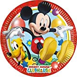 piatti topolino,24 piatti topolino,festa topolino,piatti in carta topolino