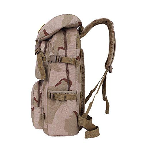 Yy.f Männer Bergsteigen Tasche Multifunktions Rucksack Mode Tarnung Schultern Outdoor Wandern Reisen Rucksack Militärischen Taktischen Angriff Tasche Handtasche A