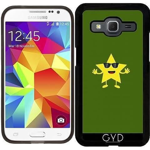 SilikonHülle für Samsung Galaxy Core Prime (SM-G360) - Stern Mit Sonnenbrille by ilovecotton