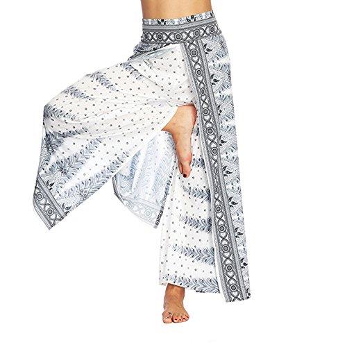 JYJM Damen Casual Harem Hose Damen Thailand indonesischen Wind Lose Yogahosen Damen Digitaldruck Lose Weites Bein Hose Damen Bohemian Yoga Hosen Damen Lose Tanzhosen Bühnenshorts (Wie Man Den Marvel-weg)