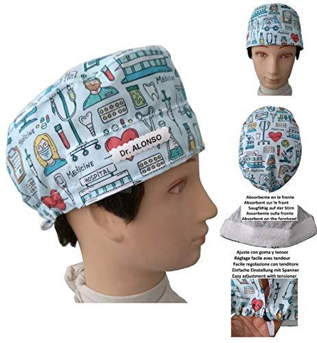 Hüte Chirurgische Kappe Medizinisches Instrument für kurze haare. Chirurg Zahnarzt Tierarzt Angepasst mit Name in Option