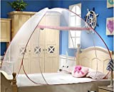 #5: NOVICZ Bed Mosquito Net Bug Insect Repellent Folding Tent 150 x 200 Cm
