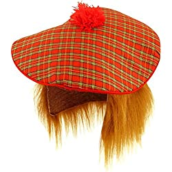Scottish Hat - Tam O Shanter with Hair (gorro/ sombrero)