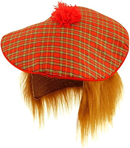 Scottish Hat - Tam O Shanter with Hair (gorro sombrero) cd6d62f37bc