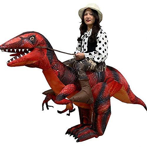 Inflatables Kostüm - Unbekannt Aufblasbare Kleidung t-rex Dinosaurier aufblasen Tyrannosaurus Kostüme Weihnachten, Halloween Cosplay Kleidung für Erwachsene,T3