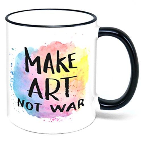 Make Art Not War Kaffee Tasse Künstler Geschenk (Künstler-kaffee-tasse)