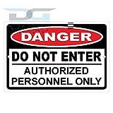 Danger Do Not Enter Autorisierte Personnel Only Aluminium Schild Blechschilder Vintage Road Schilder Dose Teller Schilder dekorativer