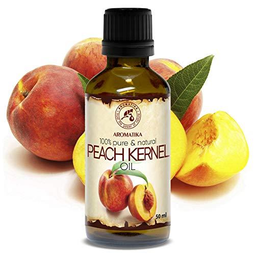 Olio Albicocca 50ml - Prunus Armeniaca - Italia - Pressato a Freddo - 100% Naturali - Cura per Viso - Capelli - Ottimo per i Massaggi - Cura del Corpo - Bellezza - Bottiglia di Vetro