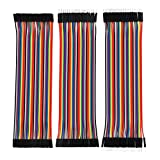 #4: Electrobot 120 Pieces Breadboard Jumper Wires Ribbon Cables Kit Wire 40 Pin M/ M, 40 Pin M/ F, 40 Pin F/ F Multicolored for Arduino