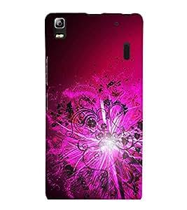 printtech Floral Light Pattern Streak Back Case Cover for Lenovo K3 Note