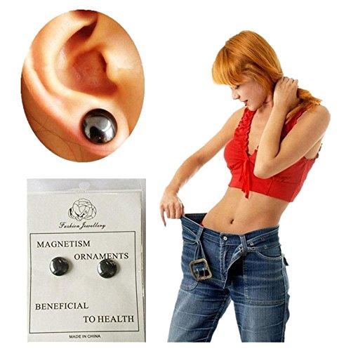 DAY.LIN Damen Ohrringe Schmuck Ohrstecker stecker Bio Magnetic Slim Ohr Aufkleber Ohrringe Acupoints Gewichtsverlust tragen Abnehmen