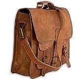 Vintage Large Leather Shoulder Bag Women Diaper Bag Travel Satchel Bag Laptop Shoulder Bag messenger satchel bag 16x12x5 Inches Brown