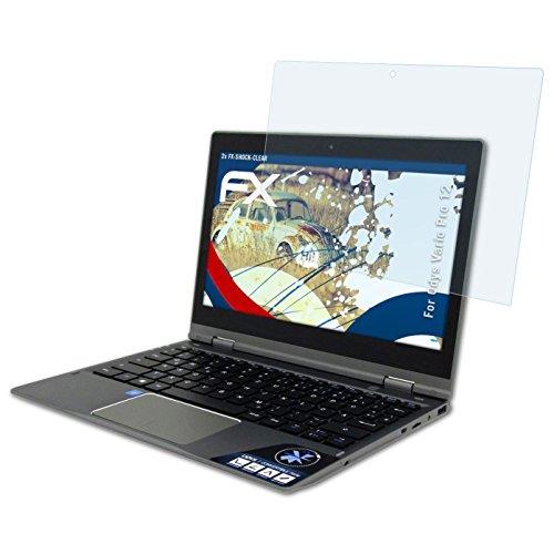 Preisvergleich Produktbild Odys Vario Pro 12 Folie - 2 x atFoliX FX-Shock-Clear stoßabsorbierende ultraklare Panzerfolie Displayschutzfolie