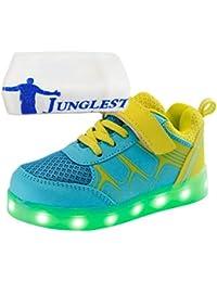 [Present:kleines Handtuch]Orange EU 30, JUNGLEST® Mädchen Fluorescence LED Sportsschuhe Sneakers Light weis