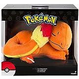 Pokémon Tomy T19282L Plüsch Schlafender Charmander 20cm|Hochwertiges Plüsch|ab 3 Jahren