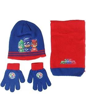 Pyjamasques - Set de bufanda, gorro y guantes - para niño Azul azul Talla única