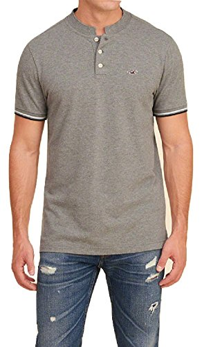 hollister-mens-polo-shirt-banded-collar-m-grey