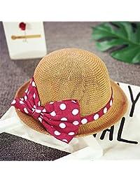Fzwang Los niños Sombrero sombrilla Chica Playa Grande a lo Largo de la  Cuenca del Sol-Resistente Sombrero Paja. 8240d254da3