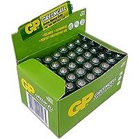 GP Batteries GP24G Greencell R03/1212/AAA  İnce Pil, 1.5 Volt, 40'lı Kutu, Yeşil/Sarı/Beyaz