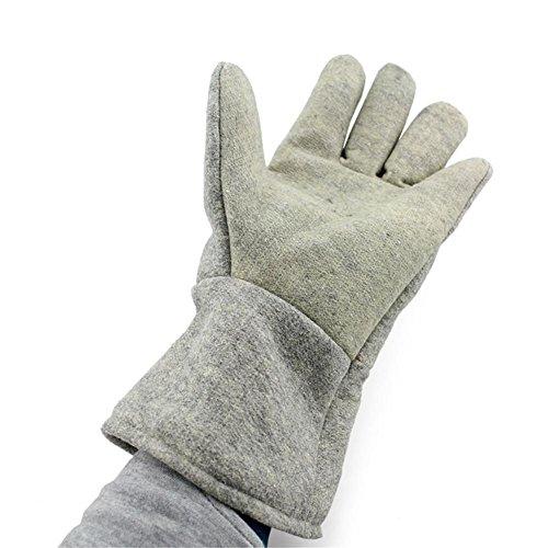 HomJo Oven Gloves 560 ° F Barbecue Handschuhe Extrem Hitzebeständig Leichtgewicht Polyester Faser Brandschutz Komfort Kochen Handschuhe Cool Grau Küche Outdoor