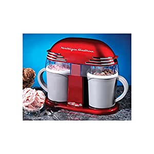 GrandGadgets ® Retro Double Ice Cream Maker