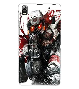 ColourCraft The Soldier Design Back Case Cover for LENOVO K3 NOTE