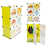 Kinderzimmer Steckschrank - Set aus 6 Modulen, Grün - DIY Steckregal System Regalschrank - Grinscard