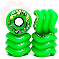 Shark Wheels California Roll Cruiser Rotelle 60 mm/78 a (Set di 4) + fan tic26 adesivi, verde