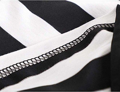 Deyou Femmes New Plain sans Manches Gilet Robe Dames Stretch Round Scoop Décolleté Doux à Long Strappy T-Shirt Camisole Gilet Débardeur Stripe 1