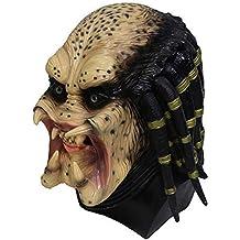 Kaapow Máscara Alien Latex Skeleton Hunter Predator Cosplay Martian Scary  Latex Disfraces y Disfraces de Halloween b61caf2be0d