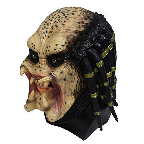 Kaapow Predator Latex Mask Halloween Mask Face voller Kopf Kostuem Scary Creepy Schreckliche Mask for Masquerade Party