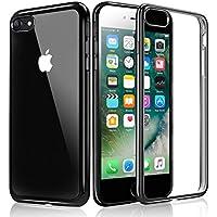 iPhone 7 Custodia, KKtick iPhone 7 Case Cover Sottile Silicone Galvanica TPU, Anti Slip, Antigraffio, Antiurto Bumper pelle protettiva per iPhone 7 (Jet Nero)