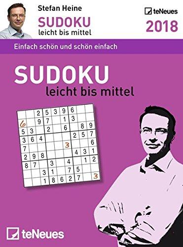 Stefan Heine: Sudoku leicht bis mittel 2018 - Tagesabreißkalender, Rätseln und Wissen - 11,8 x 15,9 cm
