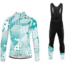 Uglyfrog 2019 2020 Nouveau Veste Thermique d'hiver Maillots à Manches Longue + Bib Pantalons de Cyclisme Combinaisons Femme ZRWL01