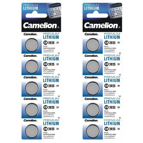 Camelion 10-er Pack Lithium Knopfzelle 3 V DL2025/5003LC CR2025 (Lithium-batterie 2025 Knopfzelle)