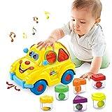 musical auto giocattolo a forma di frutta prima istruzione 6-18 bocche bambino giocattolo a forma di frutta distributori onnidirezionale ruota bella macchina con lingua/musica/luce