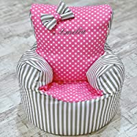 Childrens Kids Toddler PRE Filled Personalised Bean Bag Chair SEAT Girls Boys (Next Day Dispatch)