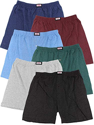 FTSD - FindTheSecretDreams Herren Klassische Boxershorts 281/6 (6er Pack) Mehrfarbig 7 M