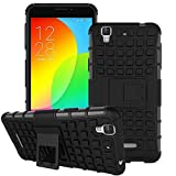 Mobicrafft Hybrid Military Grade Armor Kick Stand Back Case Cover with Kickstand for Micromax YU Yureka/Yureka Plus (Black)