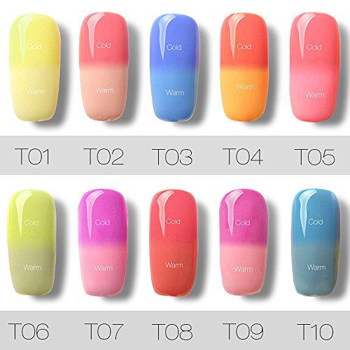 Colore Ml Dello Smalto Del 1 Di d Longra Chiodo Di Led 1 Di Uv Chiodo Cambiamento Polacco Gel Del 7 e g4wOHP