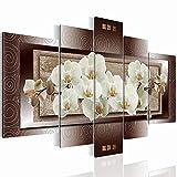 Bilder 170 x 100 cm - Orchidee Bild - Vlies Leinwand - Kunstdrucke -Wandbild - XXL Format – mehrere Farben und Größen im Shop - Fertig Aufgespannt !!! 100% MADE IN GERMANY !!! - Blumen – Abstrakt 2054527a