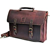 45,7cm Large scuro borsa in pelle per uomo borsa messenger