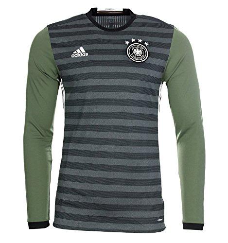 Adidas adizero DFB Away A Trikot langarm Player Edition grau grün 4 Sterne 6 / M (Adidas Adizero Fußball)