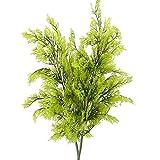 Nahuaa 2pcs Künstliche Pflanze Zypresse Zweige Kunstpflanzen Plastikpflanzen Künstliche Grünpflanzen Unechte Pflanzen für Frühling Topf Balkon Garten Zuhause Büro Dekoration Grün