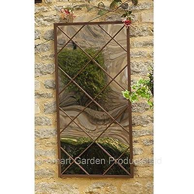 Large Garden Vista Garden Mirror Rustic Frame