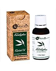 Naturalis Essence of Nature High Grade Eucalyptus Essential Oil Pure & Natural Therapeutic Grade, Perfect For Cough, Colds, Clear Breathing, Joints Pain, Mosquitoes Repellent, Aromatherapy, Relaxation, Skin Therapy, Hair Care and Diffuser - 30ml