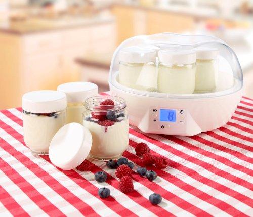 Rosenstein & Söhne Joghurt Maker mit Portionsgläsern (7 x 150 ml) - 2