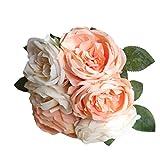 Ramo de 6 flores artificiales de la marca Bescita, de seda. Ideal para decoración de bodas Multicolor A